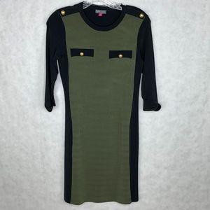 VINCE CAMUTO   3/4 Length Sleeve Nylon Dress